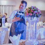 kwietnik wazon na stół weselny