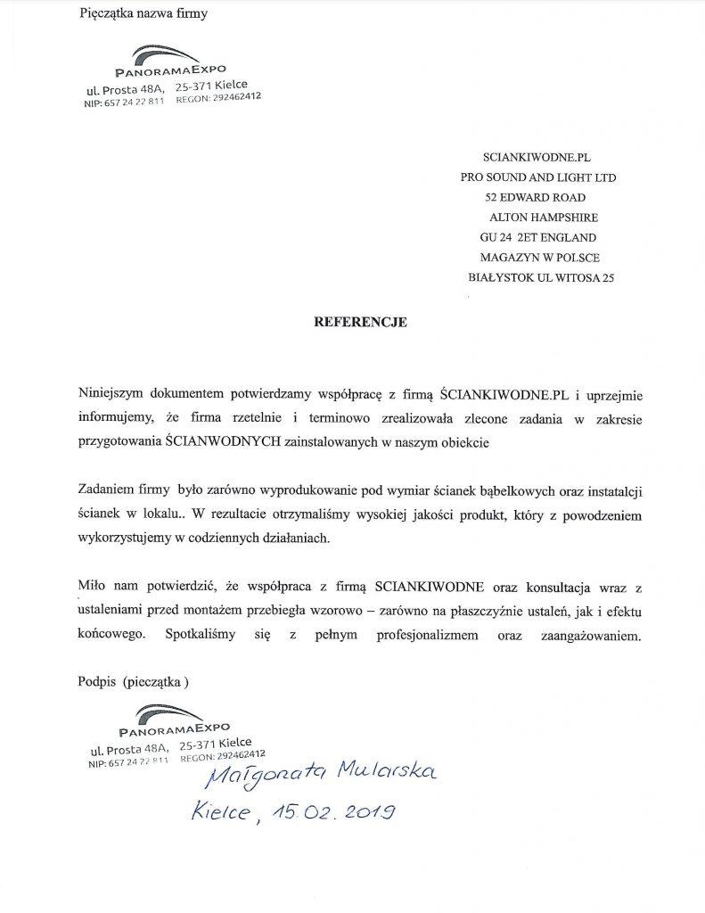rekomendacje referencje sciankiwodne.pl